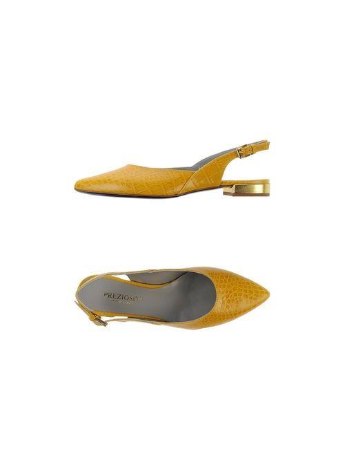 Prezioso | Женские Жёлтые Балетки