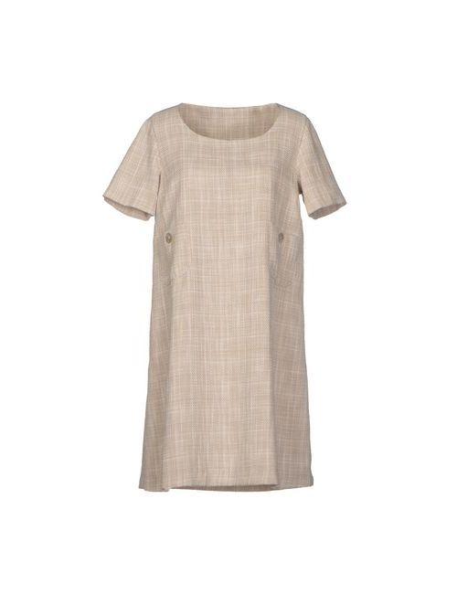 Corinna Caon | Женское Бежевое Короткое Платье