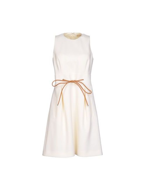 Michael Kors | Женское Слоновая Костящее Короткое Платье