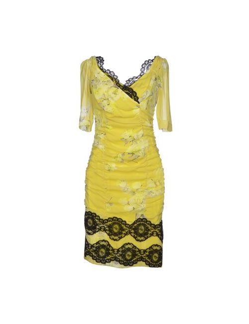 Ivan Montesi | Женское Жёлтое Короткое Платье