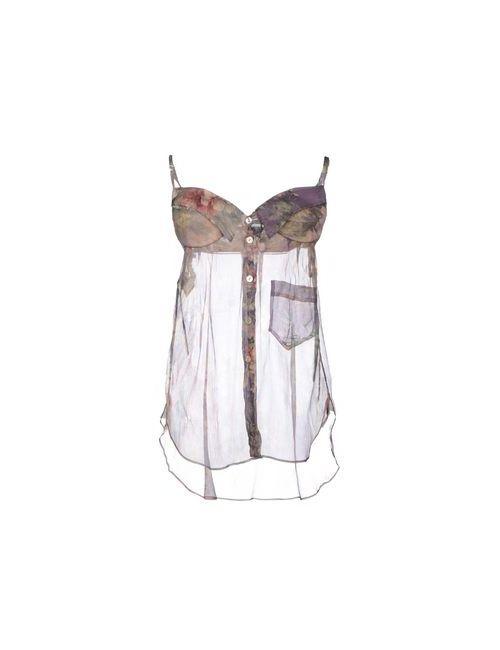 Jean Paul Gaultier | Женский Фиолетовый Топ Без Рукавов