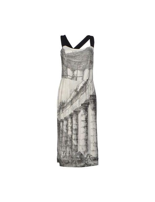 Dolce & Gabbana | Женское Серое Платье Длиной 3/4