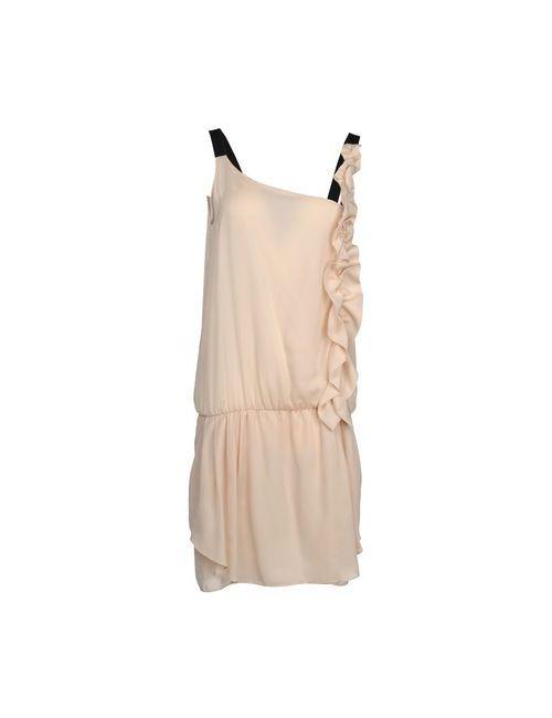 Pinko Grey   Женское Песочное Короткое Платье