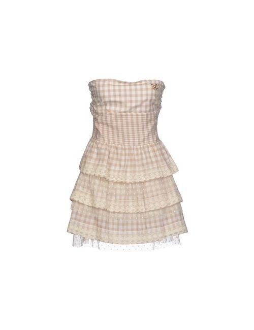 Atelier Fixdesign | Женское Бежевое Короткое Платье