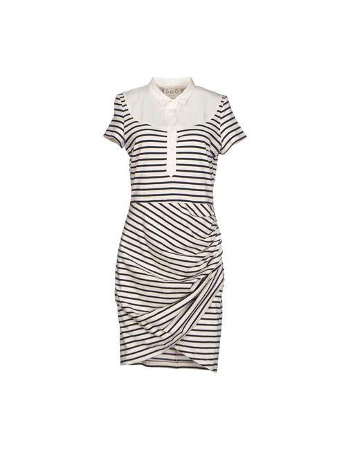 Sea New York | Женское Слоновая Костящее Короткое Платье