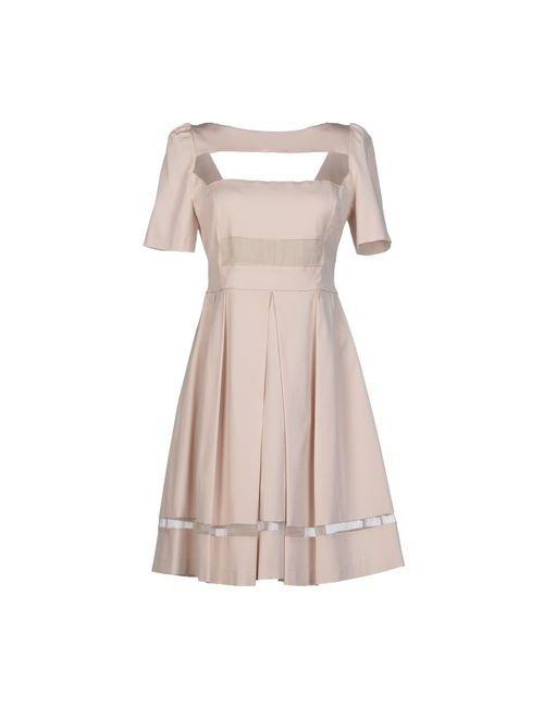 Axara Paris   Женское Бежевое Короткое Платье