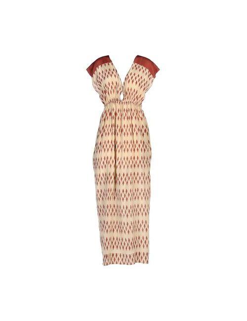 Pomandère | Женское Бежевое Длинное Платье