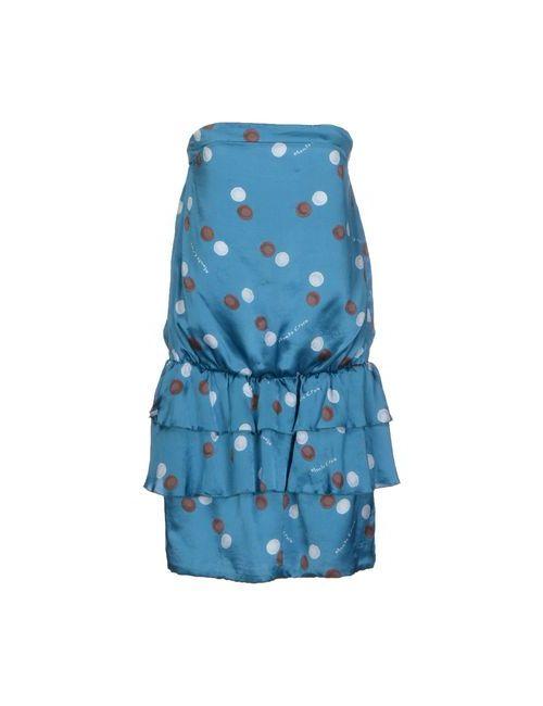Manila Grace   Женское Лазурное Короткое Платье