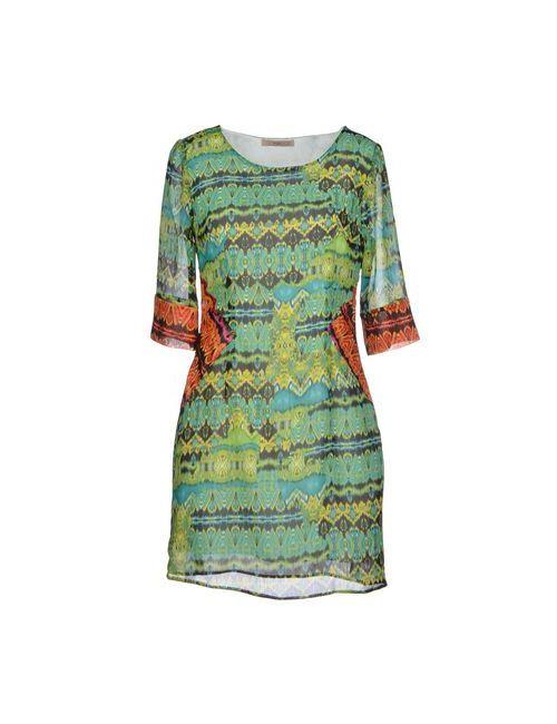 MAIOCCI | Женское Зелёное Короткое Платье