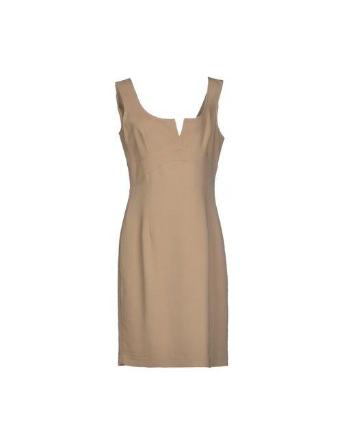 Exe Gold | Женское Бежевое Короткое Платье
