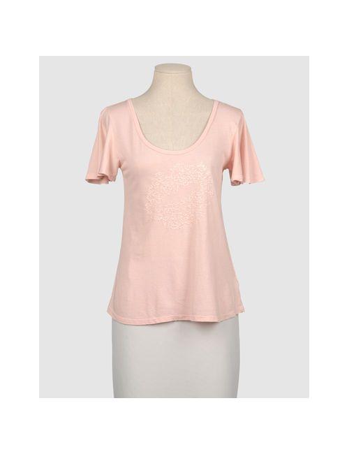 Juicy Couture | Женская Розовая Футболка С Короткими Рукавами
