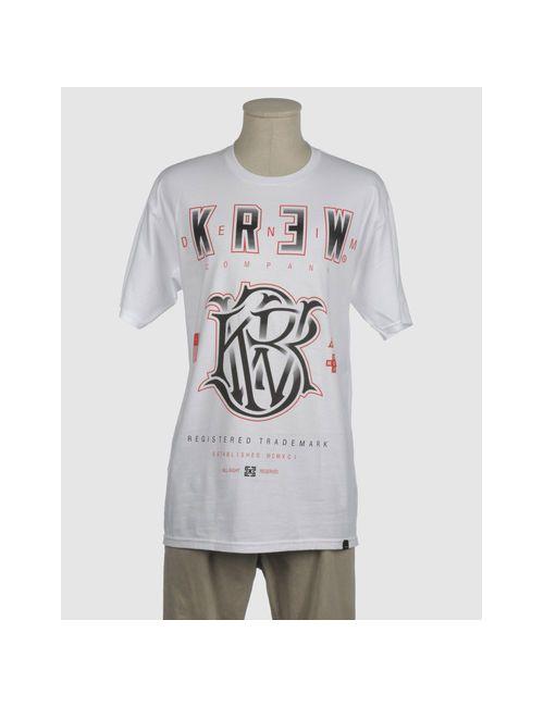 Kr3W | Мужская Белая Футболка С Короткими Рукавами