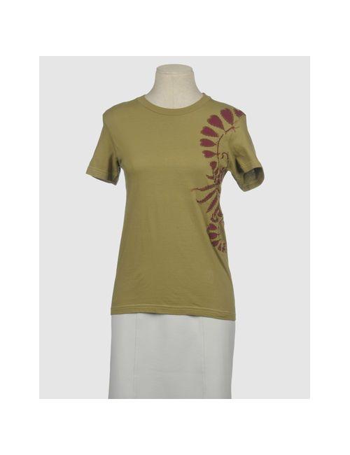 Project Alabama Machine | Женская Зелёная Футболка С Короткими Рукавами