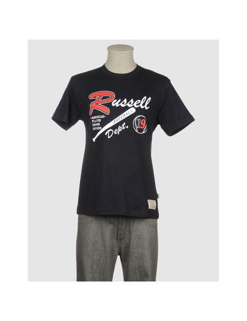 Russell Athletic | Мужская Синяя Футболка С Короткими Рукавами