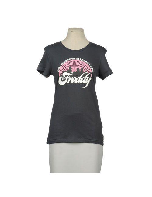 Freddy | Женская Серая Футболка С Короткими Рукавами