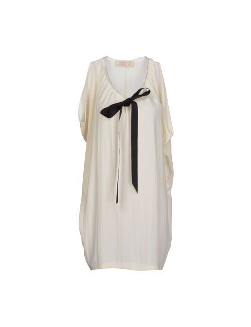 Ambra Angiolini X Aniye By | Женское Слоновая Костящее Короткое Платье