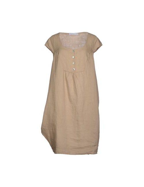 La Fabbrica Del Lino | Женское Песочное Платье До Колена