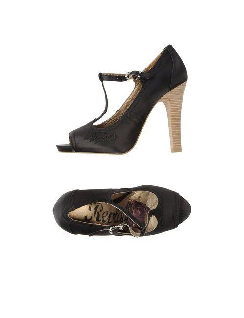 Replay | Женские Чёрные Туфли С Открытым Носком
