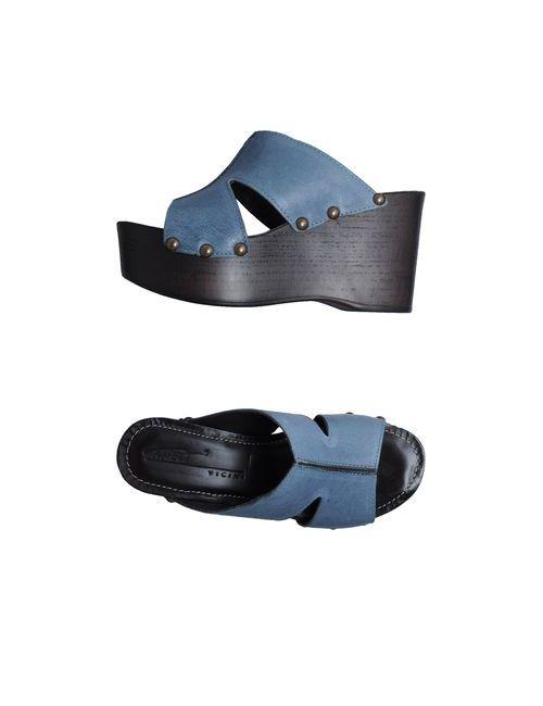 Vicini Tapeet | Женская Синяя Обувь На Танкетке