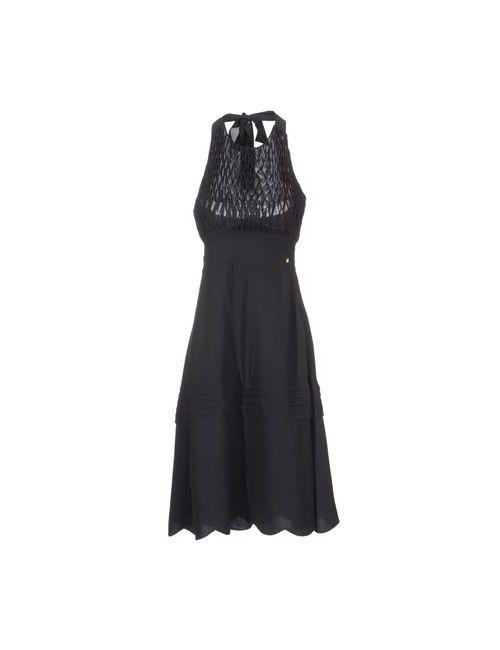 Manoush | Женское Чёрное Платье До Колена