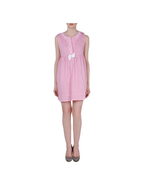 Les True Folies | Женское Розовое Короткое Платье