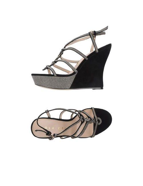 Lola Cruz   Женская Чёрная Обувь На Танкетке