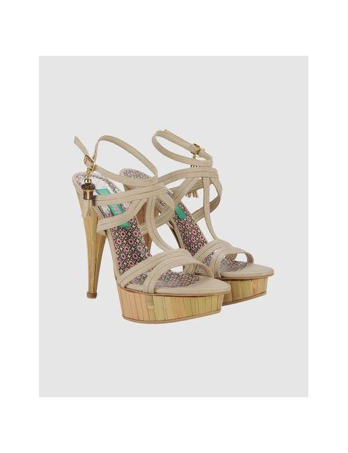 Mink Vegan Shoes   Женские Серые Босоножки На Платформе