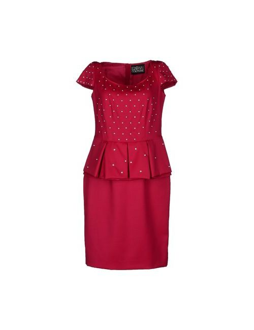 Fontana Couture | Женское Фуксия Платье До Колена