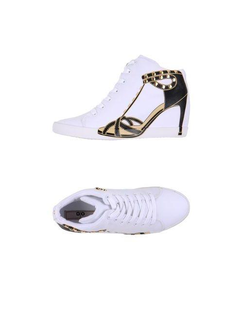 Olo   Женская Белая Обувь На Танкетке