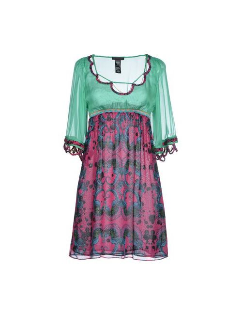Custo Barcelona | Женское Зелёное Короткое Платье