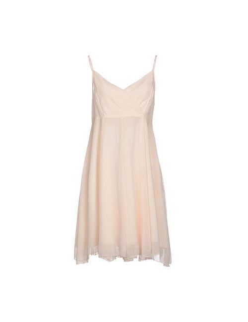 Mina | Женское Бежевое Платье До Колена