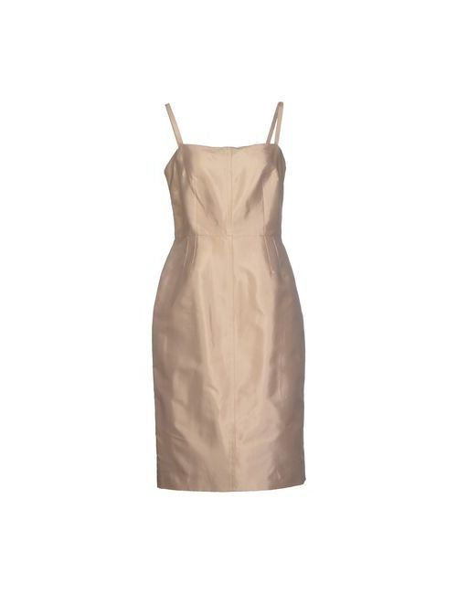 Dolce & Gabbana | Женское Бежевое Платье До Колена