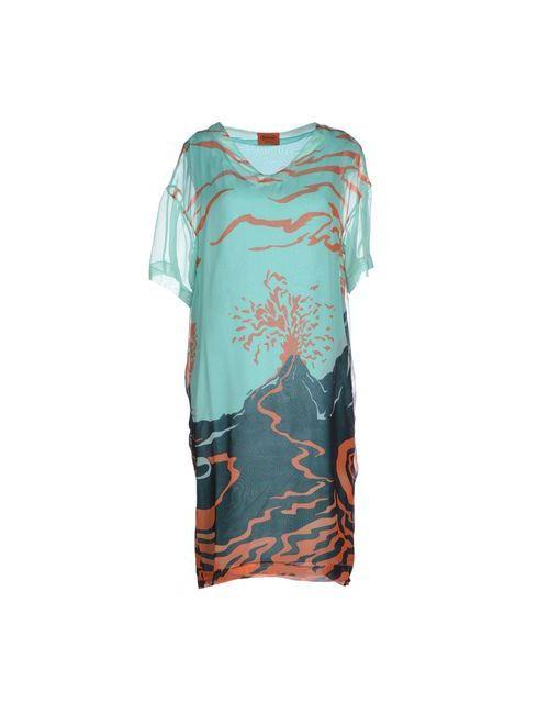 Missoni | Женское Зелёное Платье До Колена