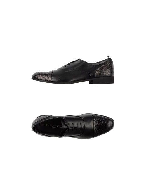Bruno Bordese | Мужская Чёрная Обувь На Шнурках