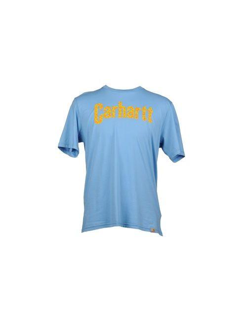 Carhartt | Мужская Голуба Футболка С Короткими Рукавами