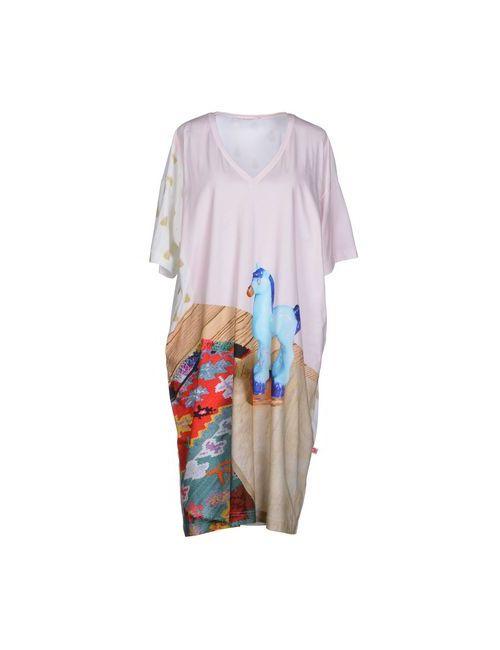 Issey Miyake | Женское Розовое Платье До Колена