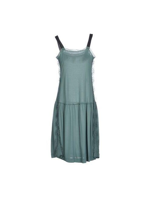 ...À_La_Fois... | Женское Зелёное Платье До Колена