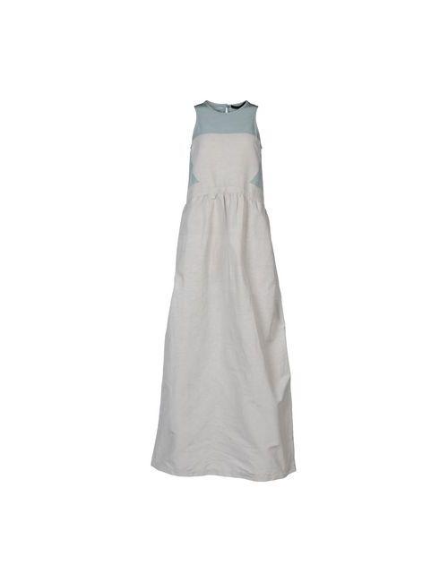 Comeforbreakfast | Женское Серое Длинное Платье
