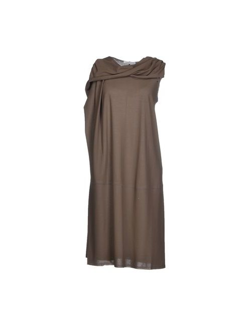 Lamberto Losani | Женское Коричневое Платье До Колена