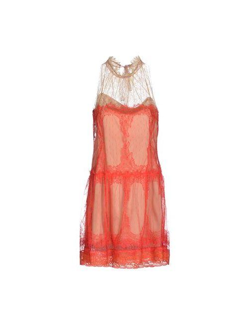 Alberta Ferretti   Женское Красное Короткое Платье