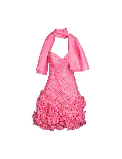 Jora Collection | Женское Розовое Короткое Платье