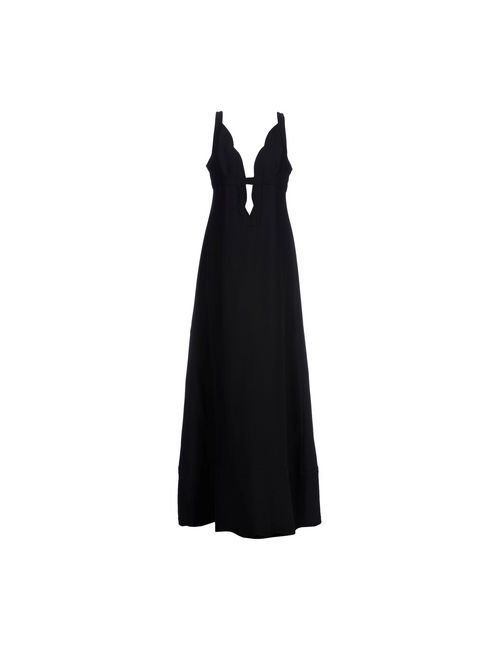 Valentino | Женское Чёрное Длинное Платье