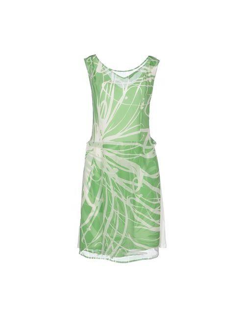 Love Sex Money | Женское Зелёное Короткое Платье