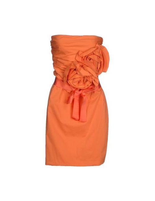 Imperial | Женское Оранжевое Короткое Платье