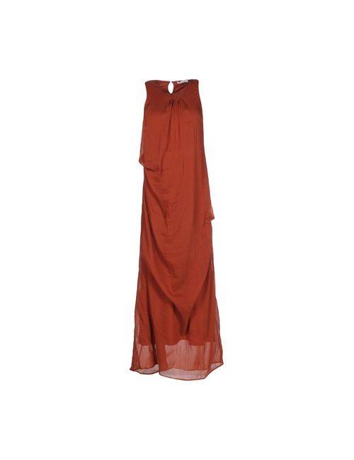 Lamberto Losani   Женское Коричневое Длинное Платье
