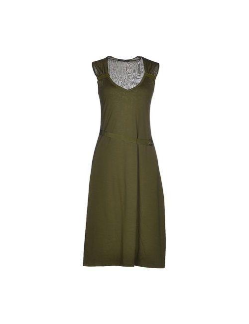 Lamberto Losani | Женское Зелёное Платье До Колена