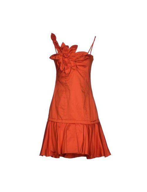 X'S Milano | Женское Коричневое Короткое Платье