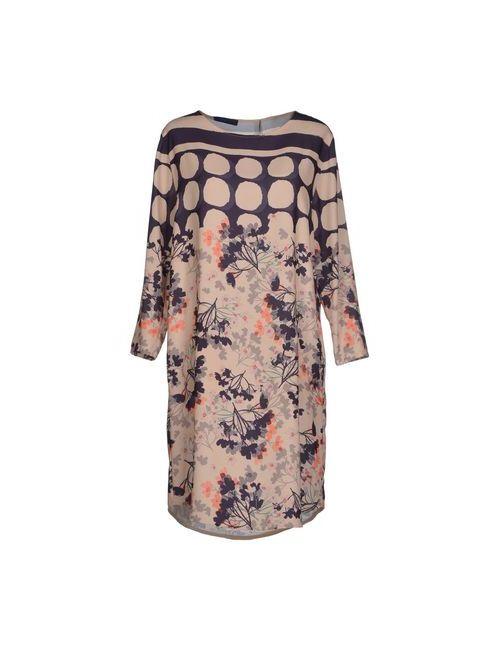 Blue Les Copains | Женское Бежевое Короткое Платье