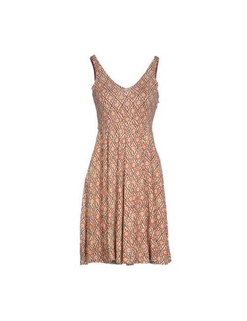 Siyu | Женское Слоновая Костящее Короткое Платье