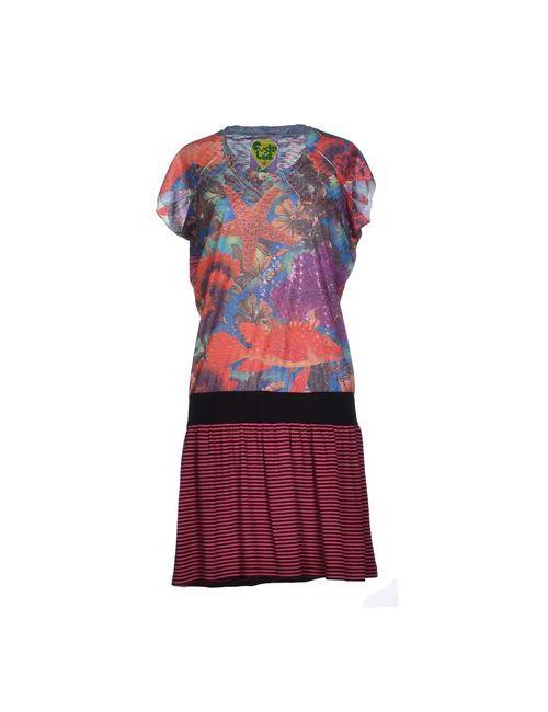 Custoline | Женское Оранжевое Короткое Платье